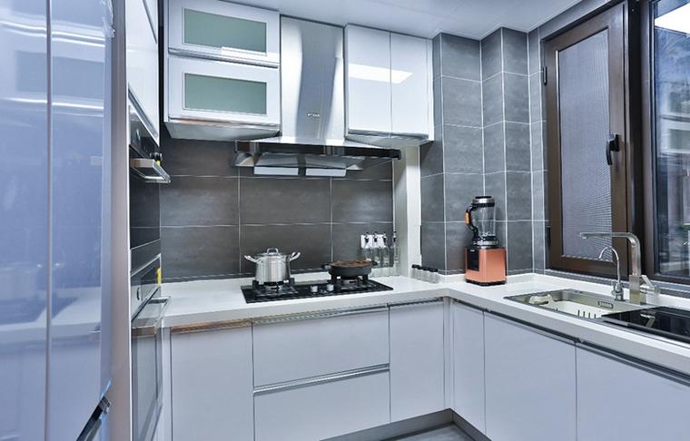 90平蓝调小户型厨房效果图
