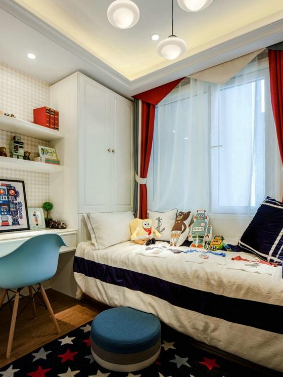 很养眼的样板房设计儿童房窗帘图片