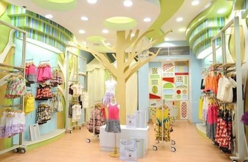 童装店装修效果图 个性童装店装修