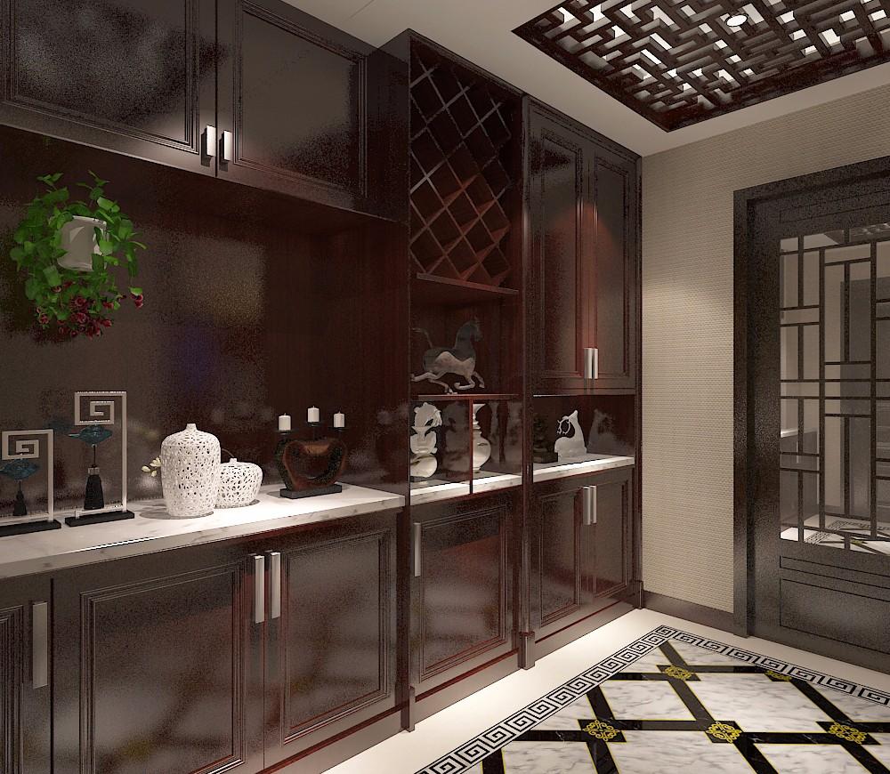 中式風格裝修儲物柜設計效果圖