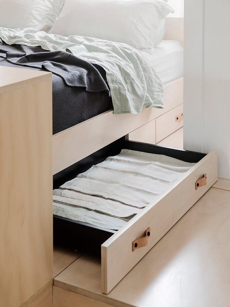 超小戶型公寓裝修床底收納設計