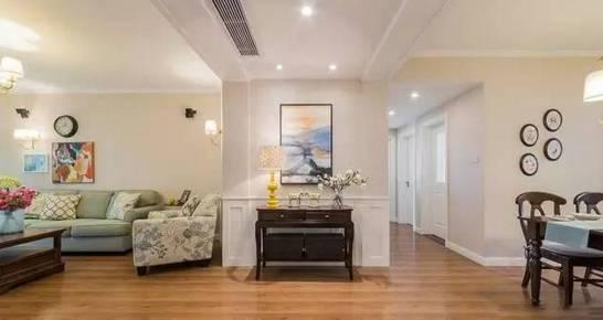 室内装修|110平三房美式乡村装修,电视背景墙这样装被图片