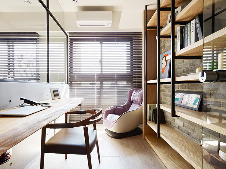 50平现代简约亲子宅书房装潢图