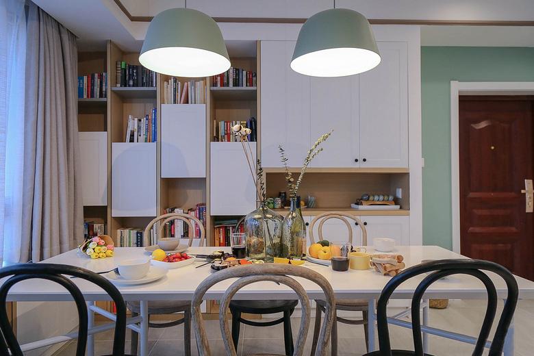简单90平米房屋装修餐厅效果图