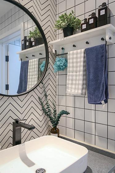 90平北欧风白领公寓卫浴间装潢图