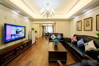 8万搞定120平两居室装修客厅效果图