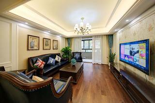 8万搞定120平两居室装修电视背景墙图片