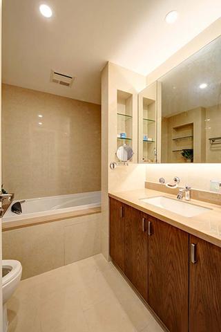 8万搞定120平两居室装修卫浴间装潢图