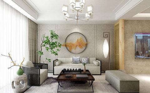 5-10万120平米中式三居室装修效果图,正大万物城 中式图片