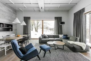 很温暖的别墅装修客厅设计图