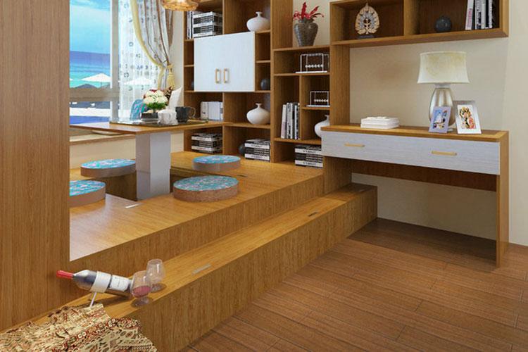 现代简约风格书房榻榻米装修效果图