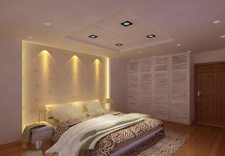 卧室背景墙装修构造图