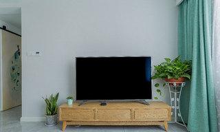 北欧简约风格装修电视柜图片