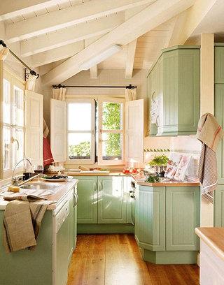 清新厨房装修设计图片