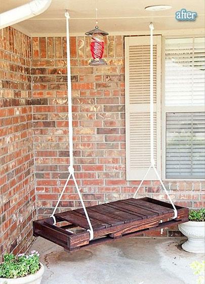 阳台秋千式吊椅装修设计