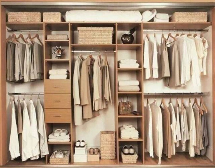 日式大容量衣柜设计图