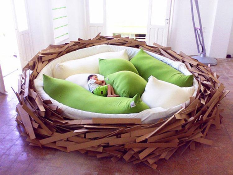 创意鸟巢床实景图