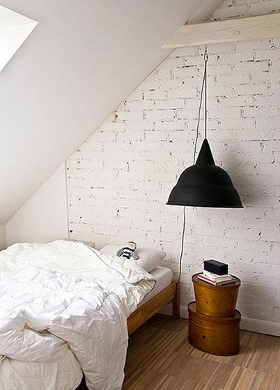 白色阁楼卧室效果图
