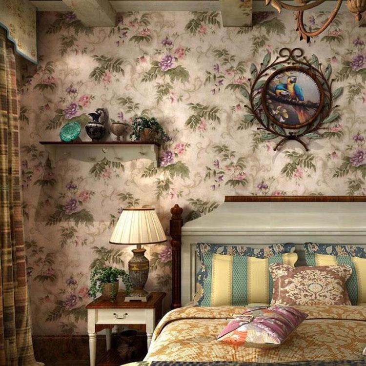 美式风格卧室壁纸图片