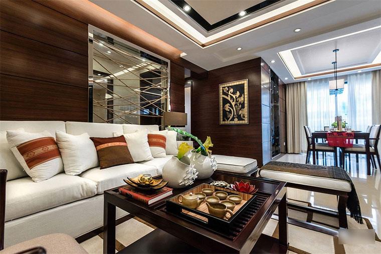 新中式风格房屋装修客厅效果图