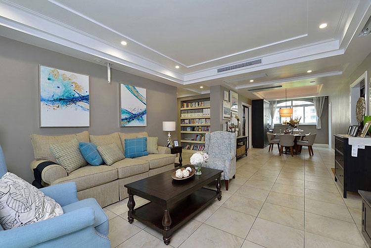 95平米简约风格装修客厅装潢图