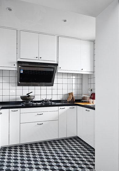 89㎡清新北欧风装修厨房装修图