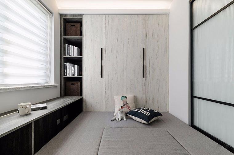 现代简约风格装修书房榻榻米图片