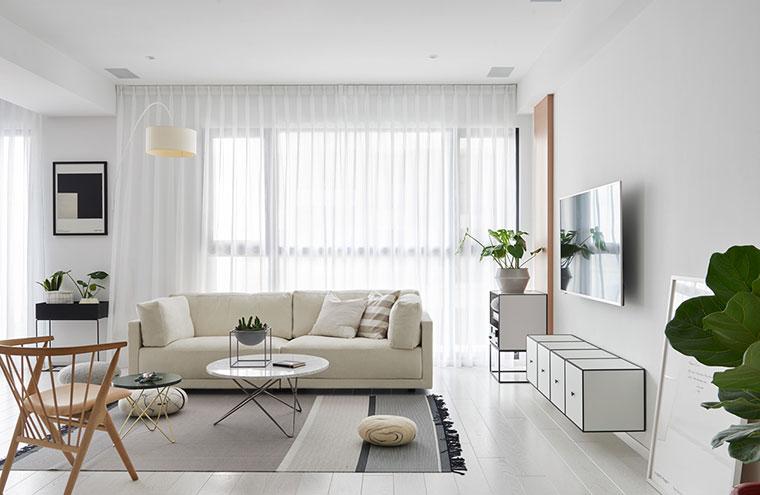 清新北欧风格装修客厅效果图