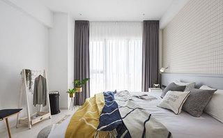 清新北欧风格装修卧室实景图