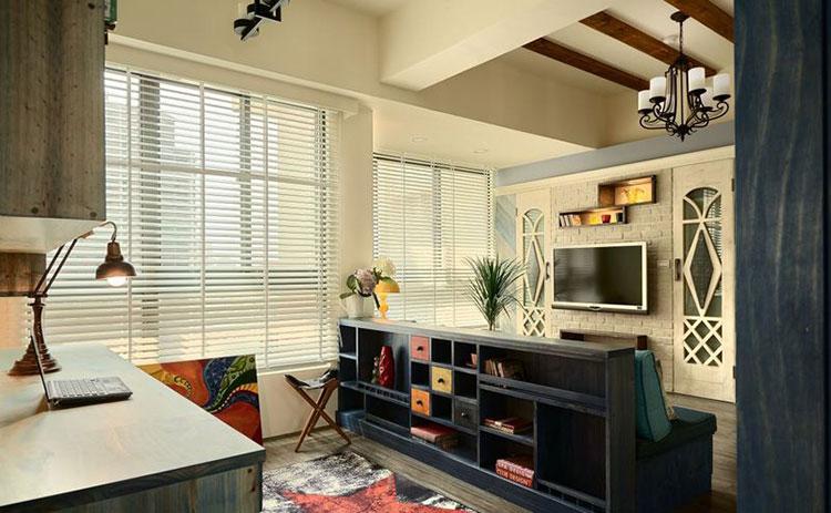 86㎡田园两居室百叶窗图片