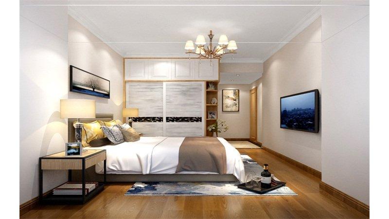 10-15万90㎡简约四居室装修效果图,佳华领汇2栋2单元