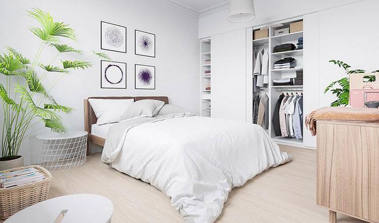 85平宜家风格清新两居室卧室装修图
