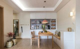 110㎡现代简约风格三室两厅餐厅效果图