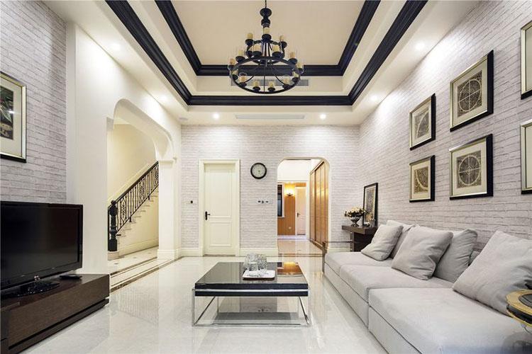420平美式乡村风格别墅客厅装修图