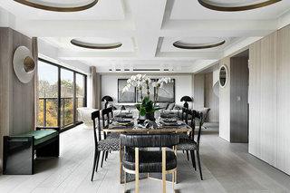 国外时尚复式住宅装修餐厅效果图