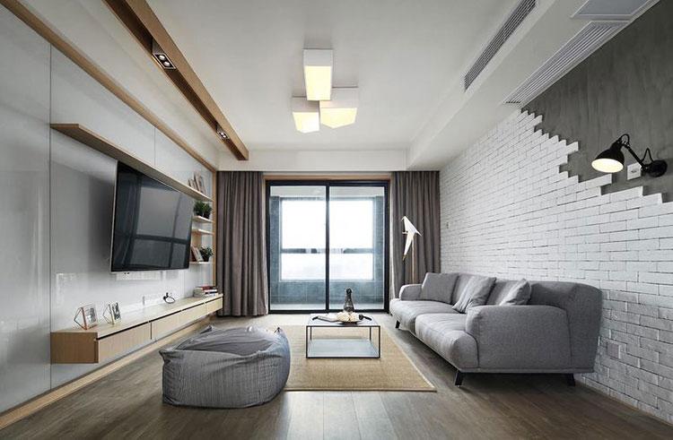 现代简约风格样板间客厅效果图