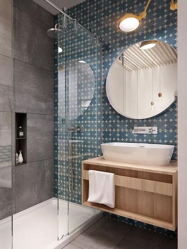 卫生间的干湿分离这样设计,终于可以一起刷牙如厕了