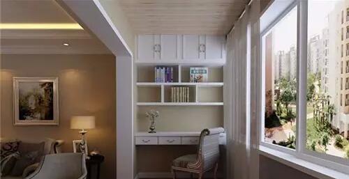設計柜子來裝飾陽臺,而用陽臺柜子來裝飾陽臺能達成什么樣的效果呢?圖片