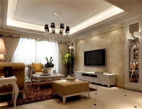 客厅电视墙装修效果图 个性电视墙装修让客厅更出众