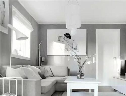 灰色地板装修效果图 极简生活也有滋有味图片