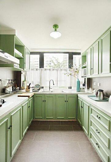 长方形厨房装修效果图_施工流程