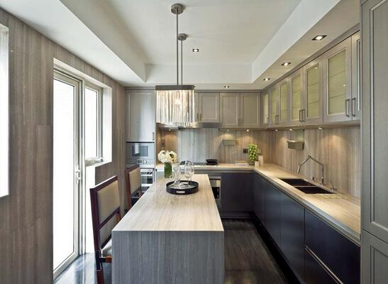 长方形厨房装修效果图