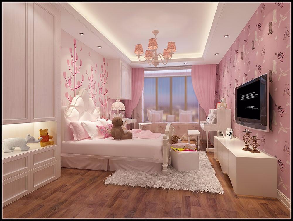 暖色系的家具让卧室温馨十足,在角落还有绿植摆放,让房间多了份活力与图片