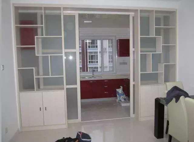 餐厅与厨房隔断柜造型 效果图