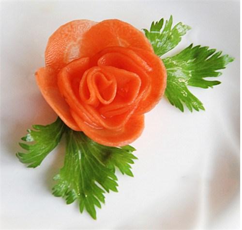 蔬菜对折剪纸图案步骤