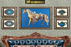 西宁装修样板间:打造三口之家的温馨美式风格