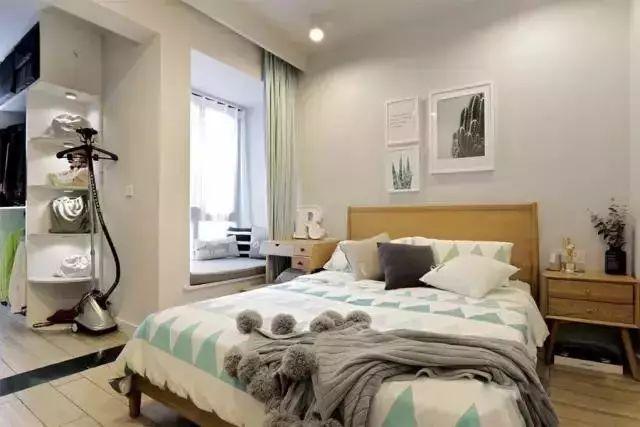 58平小户型爆改成有衣帽间的二居室!