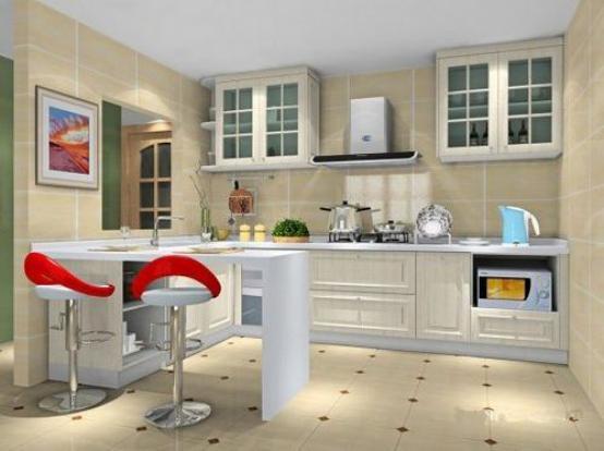 利用两墙之间的夹角就能打造一个迷你的小型开放式厨房,但这一的厨房图片