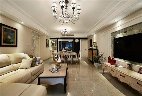 三室两厅欧式装修实景图 120平低奢大气三居室样板间图片