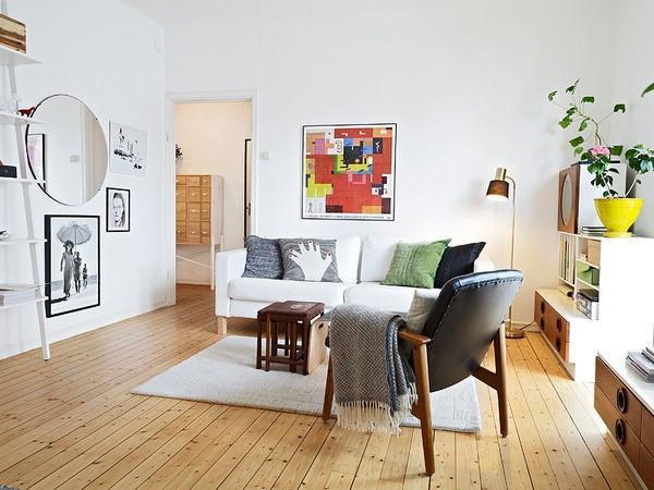 清新收纳设计40平简欧风公寓
